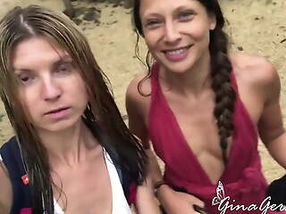 Gina Gerson and Talia Mint enjoy sexy around b be socially active time