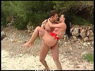 beautiful cute girl fucked at make an issue of beach