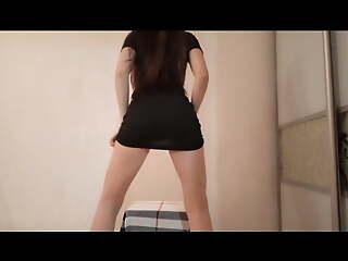 Striptease show using a chair