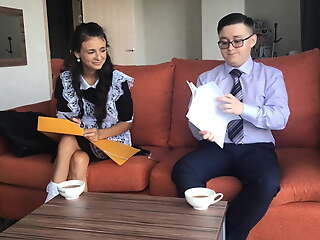 schoolgirl mint has anal sexual relations with a classmate