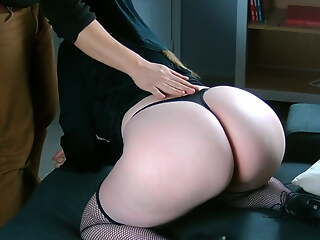 The obese ass of a French nun makes me cum adding quickly!
