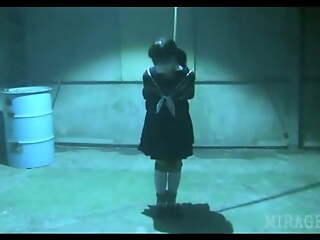 Japanese Schoolgirl tied and gagged fro warehouse