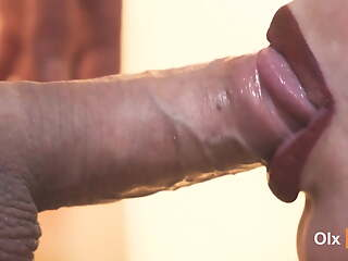 4K, Staggering close-up blowjob upon cum in mouth