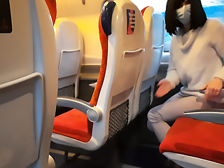 I entice out my dick in step of the teen in the train.