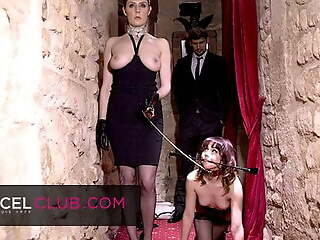Ariel submitted to will not hear of dominatrix's perversions in SM club