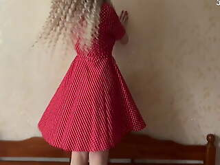 White ass involving a red dress loves anal. FeralBerryy