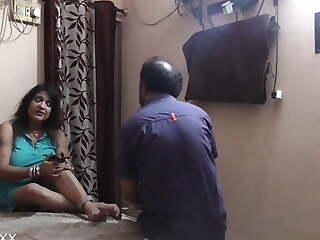 Hot Indian Lass boss having sex with innocent nokar! Hindi