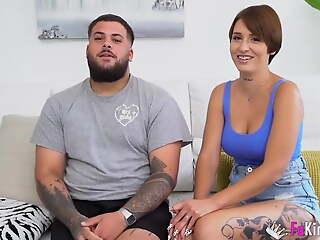 Shove around babe and the brush boyfriend film their first porno for us