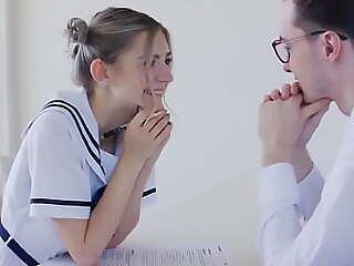 Teen schoolgirl fucks will not hear of teacher