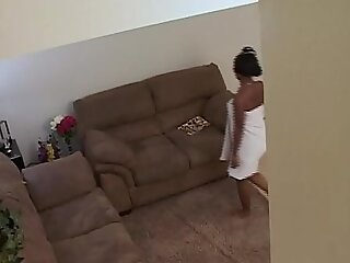 Black teen gets maltreated and face fucked by her step pater