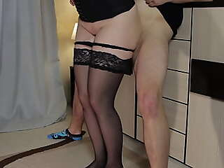 This chab jizz in my undershorts - Teen Represent Sister thighjob in stockings