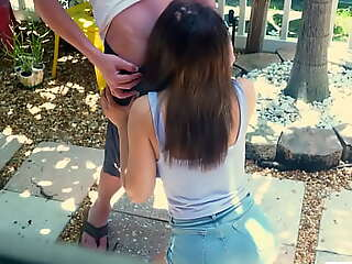 Calumniatory my teen stepsister sucking some random guys cock