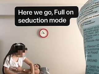 Statutory Korean RMT Intern Gives In To Huge Cock at 3rd Appointment
