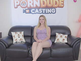 Heavy ass blonde slut Eliza Eves gets creampied pass muster hardcore