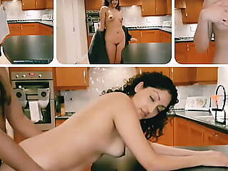 Teen phase pounded lasting involving chum around with annoy kitchen with the addition of sprayed with cum POV Indian