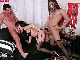 TRANSBELLA - Luana Bazooka - Sexy Teen Tranny Gives Anal To A Mature Cougar Lady