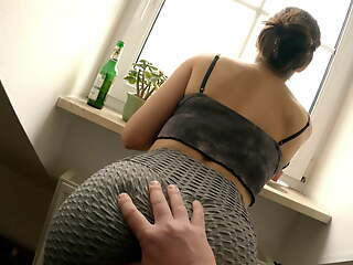 Insidiously a overcome had sex at partents home - fucked at the window, we