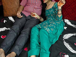 Hindi couple romance, hubby convinces her to take a crack at anal mating