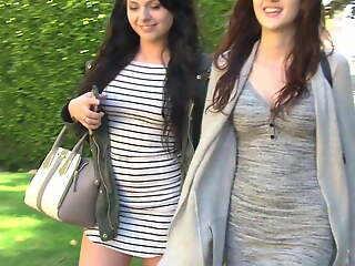 Naughty and dirty young teens - lesbian amusement play