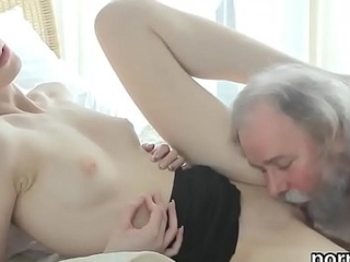 Sensual schoolgirl is tempted and drilled by her aged teacher