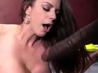 Hot Cougar cums hard on young black cock 14