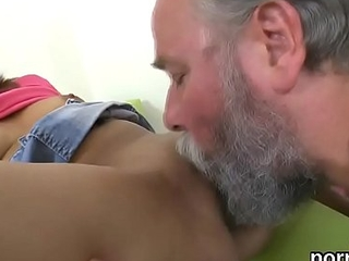 Lovesome college girl gets tempted and screwed by her senior schoolteacher