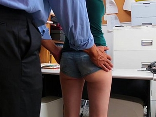 Shoplyfter - Skinny Teen Blackmailed and Stripped Down