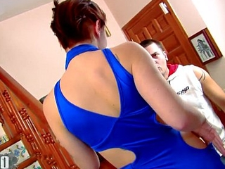 Young brunette fucked in the ass apart from Andrea Moranty