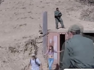Mexican teen is prevalent for a border patrol hardcore lady-love allow