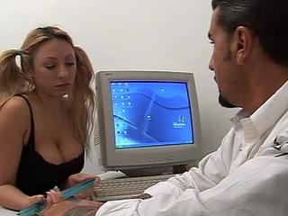 Young naughty secretary seduces her boss!