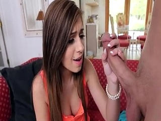 Shaved Babysitting School-Girl Is Supercilious