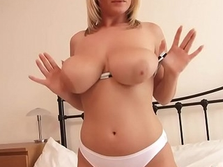 Big Booty Blonde Has Fun with Will not hear of Juicy Bazookas