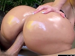 Notorious Big Booty Blonde Bimbo Alena Croft Tries Anal for the First Length of existence