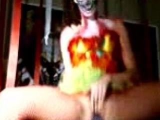Shaye  halloween clown TEEN ill-use