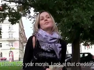 Public Blowjob Distance from Sexy Czech Amateur Teen For Cash 09