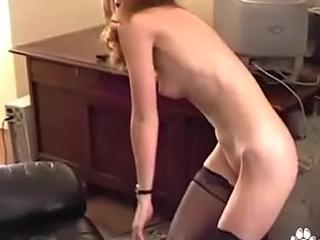 Victoria Fucks Her Yellow Vibrator