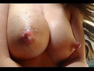 Teen milking big tits for sweet milk