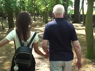 Hardcore old and young have sex between teen school girl and horny grandpa
